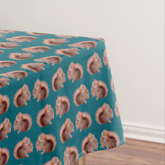 Red Squirrel Frenzy Tablecloth