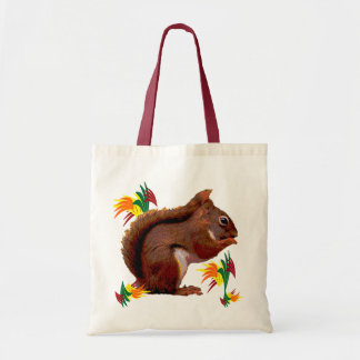 Red Squirrel in Autumn Tote Bag