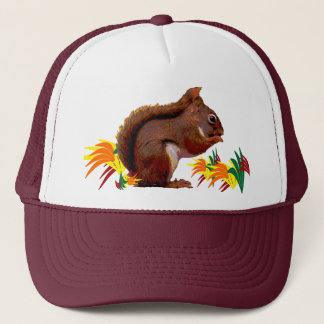 Red Squirrel in Autumn Trucker Hat