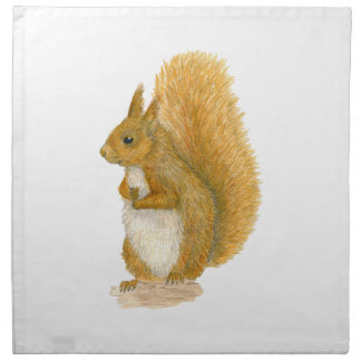 Red Squirrel Napkin
