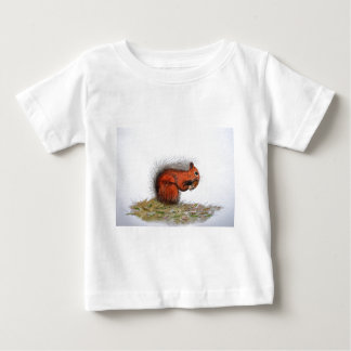 Red Squirrel pine cone Baby T-Shirt