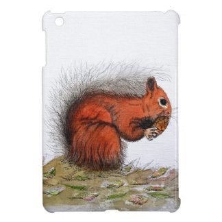 Red Squirrel pine cone Case For The iPad Mini