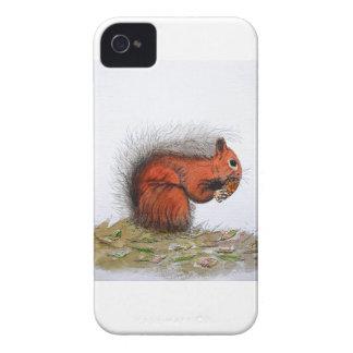 Red Squirrel pine cone Case-Mate iPhone 4 Case
