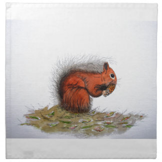 Red Squirrel pine cone Napkin