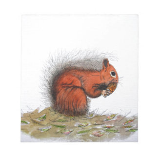 Red Squirrel pine cone Notepad