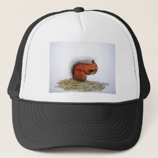 Red Squirrel pine cone Trucker Hat
