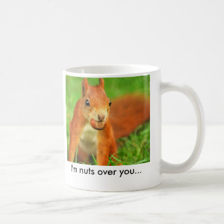 Red Squirrel with a nut, I'm nuts over you... Coffee Mug