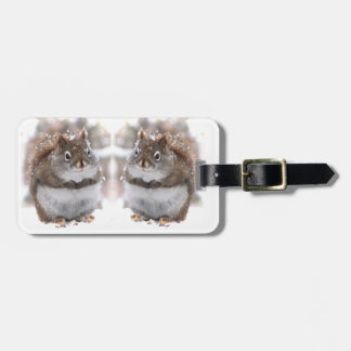 Red Squirrels in Snow Luggage Tag