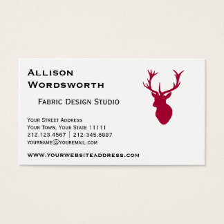 Red Stag Head Christmas or Stag Party Business Card