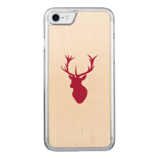 Red Stag Head Christmas or Stag Party Carved iPhone 8/7 Case