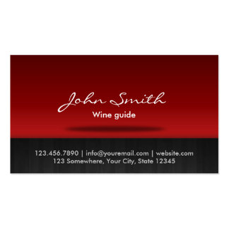 Red Stage Wine Tasting Business Card