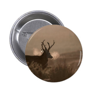 Red Stags Button Badge