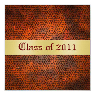 Red Stained Glass Class of Graduation Invitation