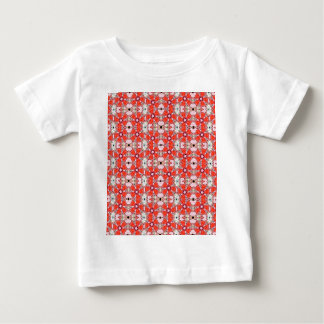 red stained glass flower baby T-Shirt