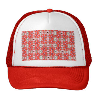 red stained glass flower cap