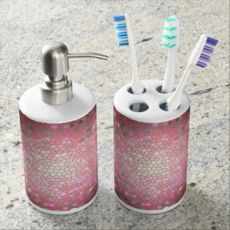 Red Stained Glass Mosaic Soap Dispenser