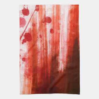 Red Stained Halloween Tea Towel