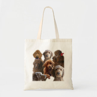 Red Standard Poodle Collage Tote Bag