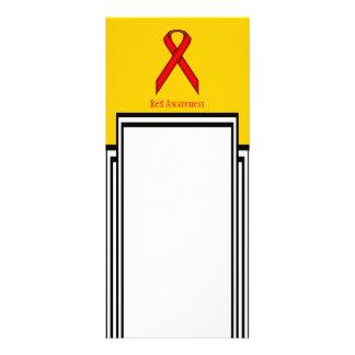 Red Standard Ribbon Custom Rack Cards