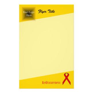 Red Standard Ribbon 14 Cm X 21.5 Cm Flyer