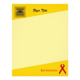 Red Standard Ribbon 21.5 Cm X 28 Cm Flyer