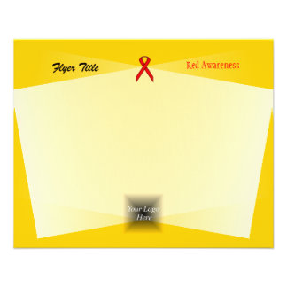 Red Standard Ribbon 11.5 Cm X 14 Cm Flyer