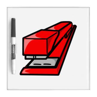 Red Stapler Dry Erase Boards