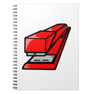 Red Stapler Note Book