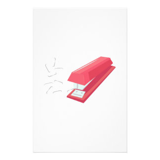 Red Stapler Personalised Stationery