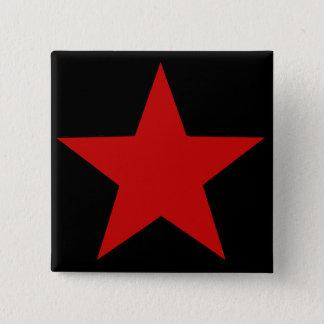 Red Star 15 Cm Square Badge