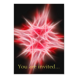 Red Star 1 13 Cm X 18 Cm Invitation Card