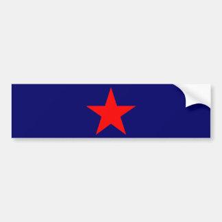 Red star 1 bumper sticker