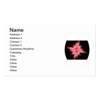 Red Star 1 Double-Sided Standard Business Cards (Pack Of 100)