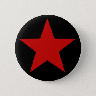 Red Star 6 Cm Round Badge