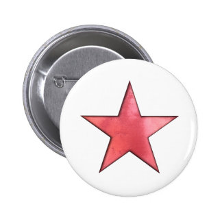 red star 6 cm round badge
