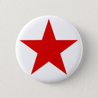 Red Star ★ 6 Cm Round Badge
