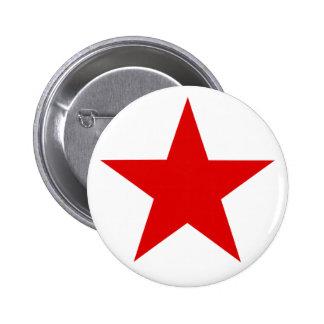 Red Star ★ 6 Cm Round Badge