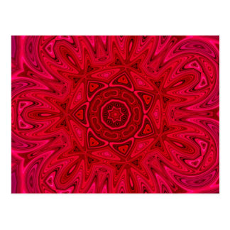 Red Star and Sun Mandala Postcards