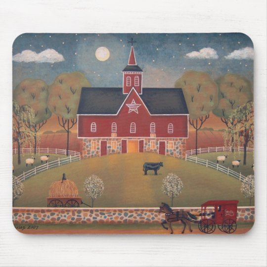 Red Star Barn Mouse Mat