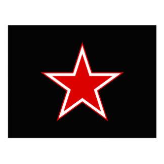 Red Star Black Postcard