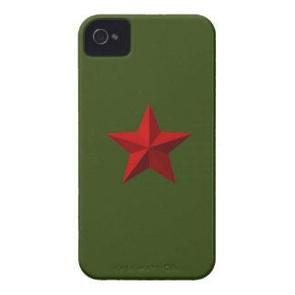 Red Star Blackberry Bold case