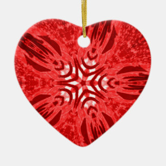 red star ceramic heart decoration