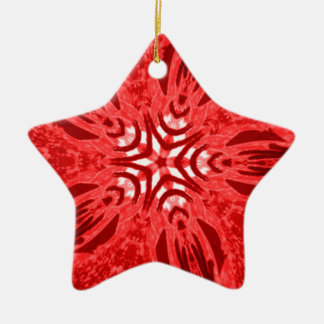 red star ceramic star decoration