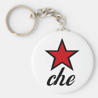 Red Star Che Guevara Keychain
