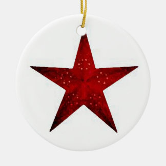Red Star Christmas Ornament