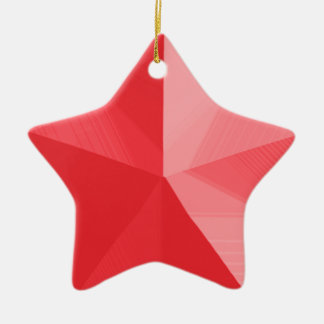 Red Star Christmas Ornament Customizable Template