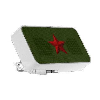 Red Star Doodle Speacker Travel Speakers