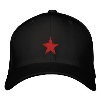 Red Star Embroidered Hat