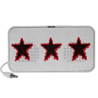 Red Star Flame Laptop Speaker