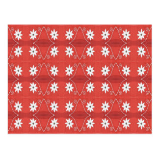 red star flowers postcard
